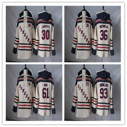 Wholesale Men Blank Sweatshirts - New York Rangers Hoodie Blank 93 Mika Zibanejad 61 Rick Nash 36 Mats Zuccarello 30 Henrik Lundqvist Hockey Jersey Hoodies Sweatshirts