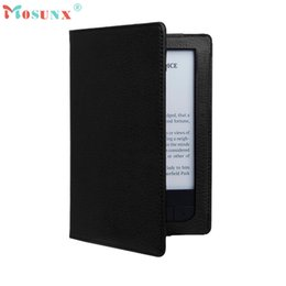 Wholesale E Reader Covers - Wholesale- Hot-sale Magnetic Auto Sleep Leather Cover Case + HD Screen Protective Film For PocketBook Touch HD 631 2016 E-reader Gifts