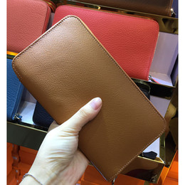 Wholesale Iphone Card Clutch - 100% Genuine Real Leather Iphone Wallets Women Men Long Purse Luxury fashion Day Clutches Bayan Cuzdan Coin Pocket Stella Bags
