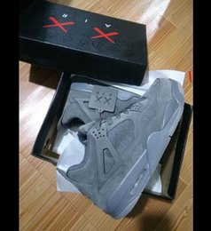 Wholesale Glow Glitter - KAWS 4 Retro XX Kaws 4s Cool Grey White Glow Best Quality With Box White Blue black Wholesale Basketball Shoes Men