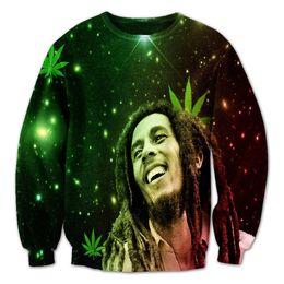 Wholesale Bob Marley Women - Women Men Jumper Jogger Rasta Legend Bob Marley Fashion Print 3D Sweatshirt Crewneck Sweats Outfits sportwear Tops Plus Size