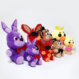 Wholesale Movie Night Gift - Free Shipping Five Nights at Freddys Bear Toys 30cm Bear & Rabbit & Duck & Fox Stuffed Plush Toy Anime Plush Dolls For Kids Children Gifts