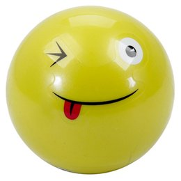 Wholesale Yoga Toy - Wholesale-3Pcs New 10cm Funny Face Candy Smell Mini yoga Balls Kids Bouncing Ball Jumping Toys