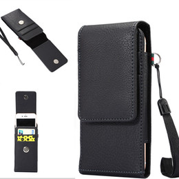 Wholesale Holster Belt Clip Wallet Flip - Luxury Universal Holster Belt Clip Waist Man Flip PU Leather Wallet Cover Bag Phone Case For iPhone 6 6S 7 Plus Samsung Galaxy S7