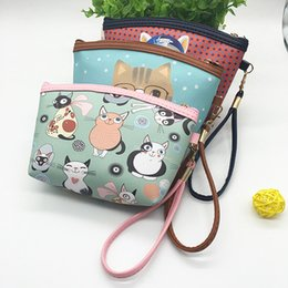Wholesale Waterproof Key Pouch - Wholesale- Women cartoon animal PU Leather Waterproof zipper Coin Purse Clutch lady Wallet phone Pocket Pouch Bag Keys cosmetic holder