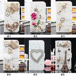 Wholesale iphone cases 3d crystal wholesale - For iPhone 8 Plus iPhone X Bling Csae Caver Case Crystal Leather Flip 3D Rhinestone Diamond Stand Wallet Case