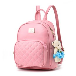 Wholesale Korean Fashion Red White - new tide female backpack spring summer students fashion casual Korean women Schoolbag Cute High Quality Leather Teenage Girls