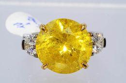 Wholesale Huge Black Diamond - 11.51Ct Huge Yellow & White Diamond Engagement Ring 10.03Ct Diamond