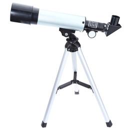 Lente de telescopio con zoom de 18x online-Binoculares 360x50mm Monocular F36050 18X a 90X Aumento Lente de paisaje astronómico Telescopio de un solo tubo + trípode para principiantes
