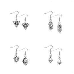 Wholesale Triangle Dangle Earrings Fashion - Dawapara Irish Knot Triangle Black Vintage Earring Ethnic Party Small Hanging and Long Earrings For Women Fashion Jewelry Baroque