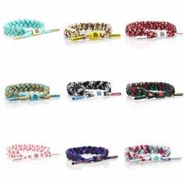 Wholesale Lion Link Chain Wholesale - 52 Color California Rastaclat Braiding Lion Galaxy Shoelace Bracelets Wristband Adjustable Ties 100% POLYESTER Couples Sport Bracelet
