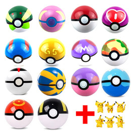 Wholesale Finish Clear - 6Pcs Lot Ball Figures ABS Anime Action Figures PokeBall Toys Super Master Ball Toys Pokeball Juguetes 7CM TOY Free Shipping