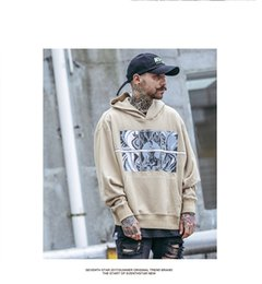 Wholesale United States Sweaters - High street chic long sleeve hooded sweater men tide brand Europe and the United States couple thin hat hat autumn hip hop sets ulzzang