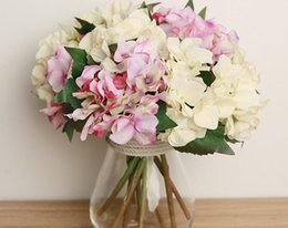 Wholesale Lowest Price Silk Flowers - hydrangea silk flower simulation artificial silk flower simulation flowers hydran home put flowers for wedding decoration in very low price