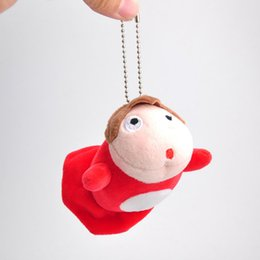 "Wholesale Ponyo Movie - New Fun 3"" Ponyo Plush Doll Ponyo on the Cliff Anime Collectible Dolls Keychains Pendants Gifts Soft Stuffed Toys"