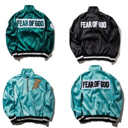 Wholesale Zippers Jackets - Fear Of God Jacket Men Women High Quality FOG MA1 Bomber Windbreaker 1987 Collection Fashion Casual Fear Of God Jacket