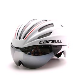 Wholesale Bike Helmet Sizing - Casco Ciclismo 2017 Latest Bicycle Cycling Helmet Short-tail Time Trial Aero Track Bike With Glasses Ajustable one size #CD01