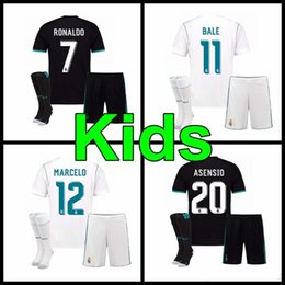 f70557304 ... Madrid kids kit home Away 3RD soccer jersey 17 18 Real Madrid RONALDO  BENZEMA 2017 real madrid boys shirt Youth Real Madrid Soccer Jersey 4  Sergio Ramos ...