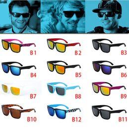 Wholesale Color Glass Block - 12 color classic Brand New fashion NEW style ken block Sunglasses Men Brand designer Sunglasses sports Glasses men glasses D036
