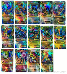Wholesale Flash Trades - Poke TCG 18 CARD MEGA 18Pcs Poke Cards EX Charizard Venusaur Blastoise Flash card ALL MEGA 18PCS Poke Cards FREE SHIPPING