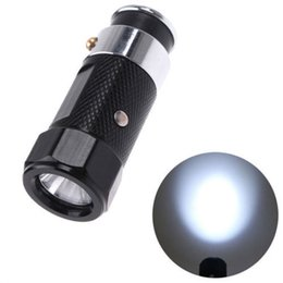 Wholesale Led Flash Lighter - Outdoor Gear LED Rechargable Car Cigarette Lighter Flashlight Torch aluminium alloy flash light 3 modes Free Shipping