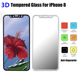 Wholesale Soft Glass Wholesale - For iphone 8 Tempered Glass 3D Curved Edge Full Cover Premium Screen protectors Soft Edge Red Screen Protector Film For Iphone 8
