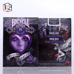 Wholesale Art Tricks - Deck Bicycle Anne Stokes II Fantasy Art Playing Cards Deck Version 2 v2 Dark Hearts Magic Tricks Magic Card Magic props