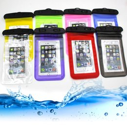 Wholesale Bicycle Bag Yellow - Nest Waterproof case bag PVC plastic Dry bag Protective universal Phone Bag Pouch For Sport Swim bicycle Diving For Any mobile phone