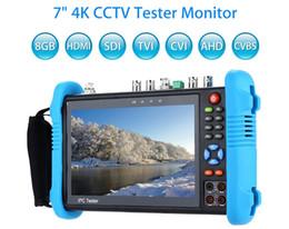 "7"" Tester IP 4K CCTV Monitor 8GB SDI TVI CVI AHD CVBS telecamera PTZ multimetro POE Prova WIFI HDMI Video Onvif H.265 da maschera per freddo fornitori"