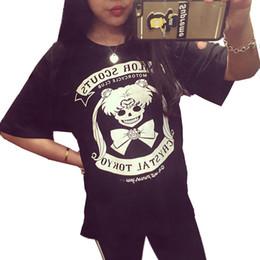 Wholesale Women Gothic T Shirts - Wholesale-HARAJUKU Sailor Moon Shirt gothic Woman Clothing Kawaii Tops Lolita T Shirt Cute Poleras De Mujer Peplum Top