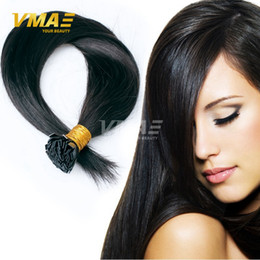 Wholesale Extensions Flat Tip - Pre Bonded Flat Tip Hair Extensions 1 Gram Strand Remy Human Keratin Hair 8-30 inch Silky Straight Fusion Hair Extensions 100 strands 100g