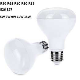 Wholesale Mushroom Light Bulbs - R50 R63 80 R90 R95 LED Bulb Light Dimmable LED Spotlight Flood Lights Mushroom Reflector Bulb Lamps5W 7W 9W 12W 15W