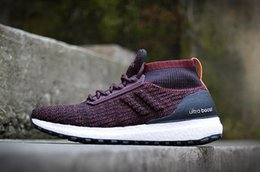 Wholesale Soft Red Leather Shoes - Men Athletic Winter ATR Mid Uncaged Ultra UB Boost Unisex Ladies Triple Black Green Running Sneaker Shoes 36-44