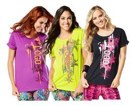 Wholesale Green Dance Shorts - New dance clothes Women tshirt tops Da Funk Long Tee Womens T-Shirt black green purple color