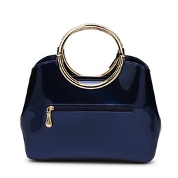 Wholesale Bright Messenger Bags - Western Light rubber paint leather handbags with bright messenger bag shoulder bags for women drop shipping