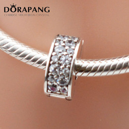 Wholesale Colour Clip - DORAPANG Hight Qaulity 925 Sterling Silver Colour Shining Elegance Clear CZ Clips Charm Bead Fit Bracelets Bangle Necklace Jewelry 3012