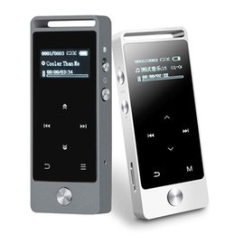 Wholesale Touch Mp3 Digital Music Player - Wholesale- OLED Touch Screen MP3 Player 8GB BENJIE S5 Digital Voice Recorder Lossless HiFi Sound Music Player E-book APE FLAC WAV with FM