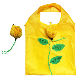 Wholesale Grocery Shopping Bags - Rose Shopping Bag NEW Fashion Reusable tote foldable bag Recycle Environmental Tote Folding Grocery Suppping Bags Wholesale Drop Shipping
