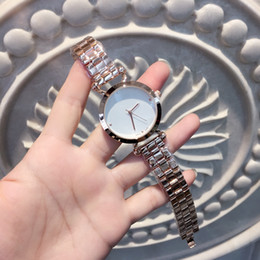 Wholesale American Tags - Wholesales 2017 Europe&American style New Brand Women Watch Blue Dial stainless steel watch Quartz Watch Lady's WristWatches drop shipping