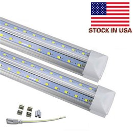 Wholesale Ft Feet - V-Shaped Integrate T8 LED Tube 2400MM 4 5 6 8 ft Feet LED Fluorescent Lamp 8ft 4ft LED Light Tubes Cooler Door Lighting