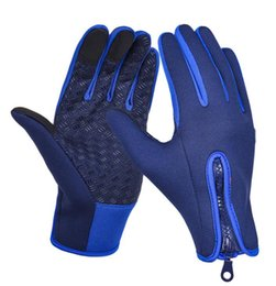Wholesale Long Bicycle - new winter thermo fleece outdoor long Cycling Gloves Bike Bicycle Sport Gloves Guantes Ciclismo GEL pad Shockproof Gants Half Finger
