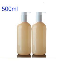 Wholesale Bath Wash Latex - 500ml Empty plastic Split charging bottle, Lotion Pump Bottles. Container for Shampoo Bath liquid wash Lotion Latex .300pcs lot
