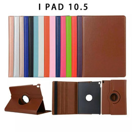 "Wholesale Smart Covers For Ipad Mini - 360 Degree Rotating Swivel Stand Magnetic PU Leather Smart Protective Solid Color Case Cover for iPad Pro 10.5"" Air 2 3 4 MINI1 2 3 MIN"