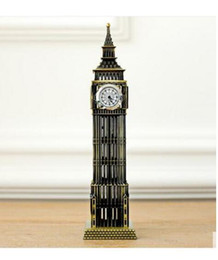 Wholesale British Money - Furnishing articles types: Desktop furnishing large British tourist souvenirs London landmark Big Ben classic decoration model alloy core