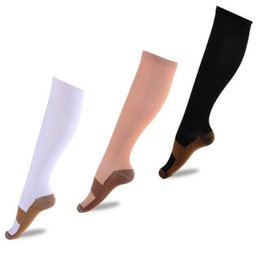 Wholesale Knee High Socks For Men - Newest Slimming socks with High Elastic compression socks breathable absorbing sweat stocking for all adults unisex free shipping 4631
