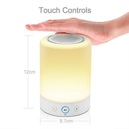 Wholesale E39 Bluetooth - LED Lamp Bluetooth Speaker LED Light Touch Wireless Speaker Portable Outdoor Camping Music Player Bluetooth Table Lamp Speaker