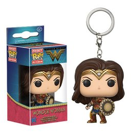 Wholesale Wonder Woman Figure - New arrival Wonder Woman The Avengers Funko pop Action Figures Funko POP Keychain Game of Thrones Jon Snow DoctorWho cartoon figures