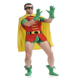 Wholesale Unisex Silver Bodysuit - Sales One pieces Nico ROBIN ZENTAI Bodysuit Theme costume Halloween Saint's Dick Grayson Robin Costume Halloween Cosplay Party