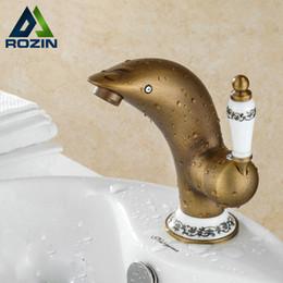 Wholesale Wholesale Sinks Vanities - Wholesale- Multiple Style Bathroom Vanity Sink Faucet Brass Antique Basin Mixer Tap Deck Mounted Single Hole