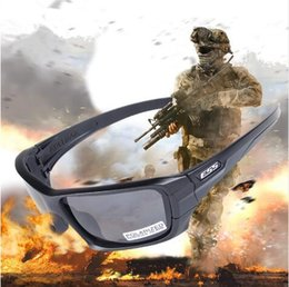 Wholesale tactical glasses ess - ESS ROLLBAR Polarized Tactical Sunglasses UV protection Military Glasses TR90 Army Google Bullet-proof Eyewear, 4 lens 3 colors